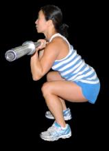 Figure competitors use squats to build the quads