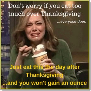 Don't worry if you Eat Too Much Over Thanksgiving