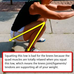 Squatting too low